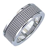 High Polished Stainless Steel Luxury Ring