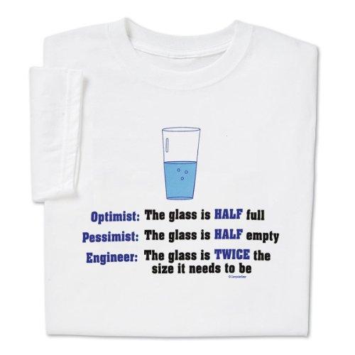 1c00735dba ComputerGear Optimist Glass Half Full Pessimist Glass Half - Import It All