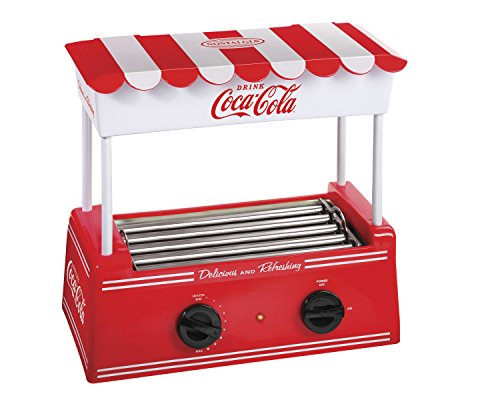 Find Discount Nostalgia HDR565COKE Coca-Cola Hot Dog Roller with Bun Warmer