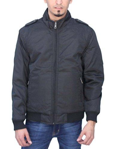 Romano Front Zipper Sleeveless Winter Jacket for Men Black