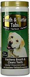 NaturVet 90 Count Breath and Tartar Tablets for Pets