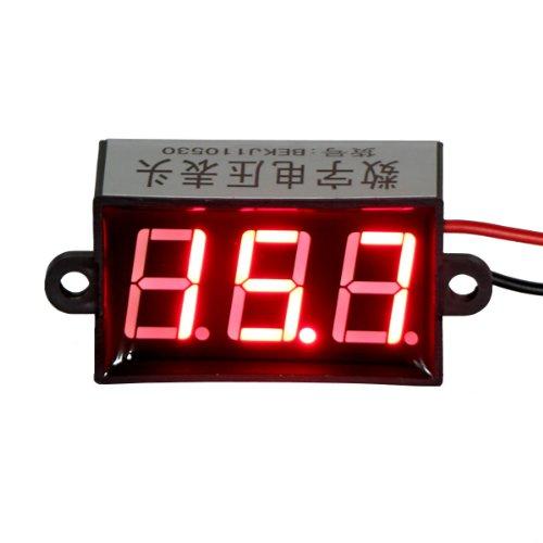"Drok Waterproof 0.56"" Digital Dc Voltmeter Gauge 15-80V Voltage Detector Led Display 2-Wire (Red)"