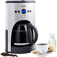 VonShef 1100W Digital Filter Coffee Maker, 15 Cup Capacity with Fully Programmable Function and Re-usable Mesh Filter