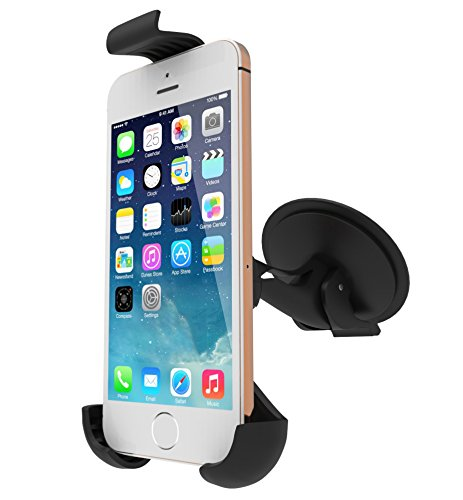 Cell Phone Car Mount Holder and Cradle for Car Window And Dashboard for the iPhone 5, 5s, 5c, 4,3, Samsung Galaxy S4, S3, S2, HTC One Mini, Nokia Lumia 820, 920, Blackberry - Easy View - 360 Rotation