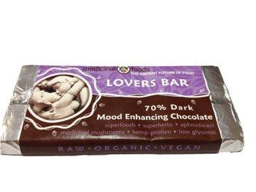 70% Dark Raw Chocolate Lovers Bar - Mood Enhancing Superfood - Medicinal Foods