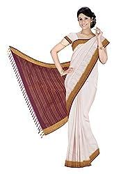 Srinidhi Silks Beige Silk Sari (Ssi 2016 38)