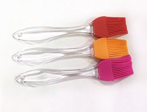 Silicone BBQ Brush, attractive colours, heat resistant, dishwasher safe and durable, Food grade silicone material (Orange)