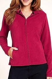 Funnel Neck Zip Through Fleece Jacket [T51-8090-S]