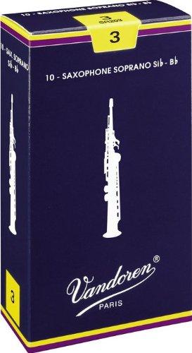 Vandoren Soprano Saxophone Reeds #3, Box of 10