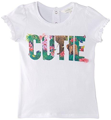 Pumpkin Patch Girls Cute Jungle Print T-Shirt, White, 12-18 Months