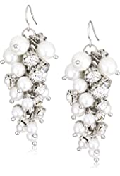 Nina 'Norah' Pearl and Cluster Drop Earrings