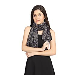 FabSeasons Blue Cotton Printed Scarf, Scarves, Stole and Shawl for Women