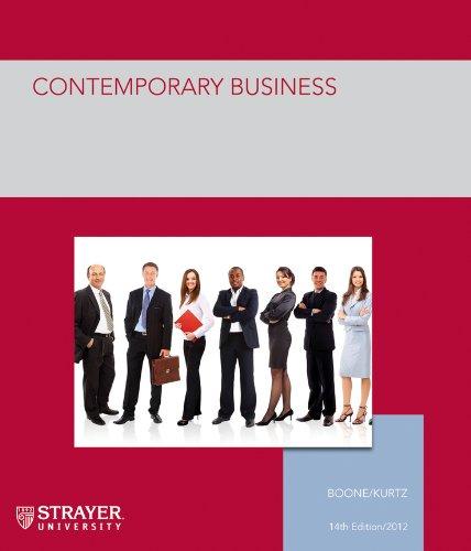 Contemporary Business: Bus 508