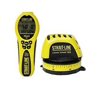 Strait-Line 6045707 Laser Leveler and Sonic Laser Measuring Tape Combo Pack