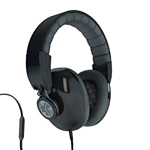 JLab Bombora Over the Ear Headphones with Universal Mic - Midnight Black / Gunmetal