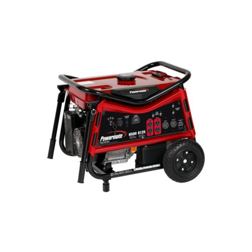 Powermate PMC106507 Vx Power Series 8,125 Watt 420cc Gas Powered Portable Generator With Electric Start