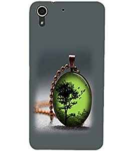 PrintDhaba Pendant D-2414 Back Case Cover for HTC DESIRE 728 (Multi-Coloured)