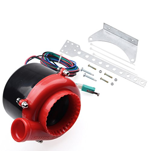 Red Black Car Fake Electronic Turbo Blowoff Blow Off Valve BOV Analog Sound For Chevrolet Dodge Ford GMC (Electronic Blow Off Valve compare prices)