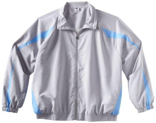 RusseL BigL Big AthL Bigetic Men's Windbreaker Jacket, Silver/Col.Blue, 4X