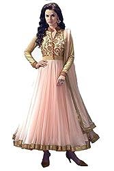 Dipak Fashion New Designer Pink Fancy Embroidery Net Salwaar Kurti For Women