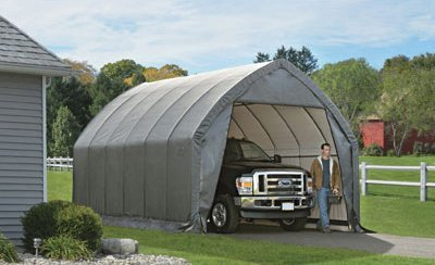 ShelterLogic Garage and Shelter Series SUV and Truck Garage-In-A-Box, Gray, 13 x 20 x 12-Feet