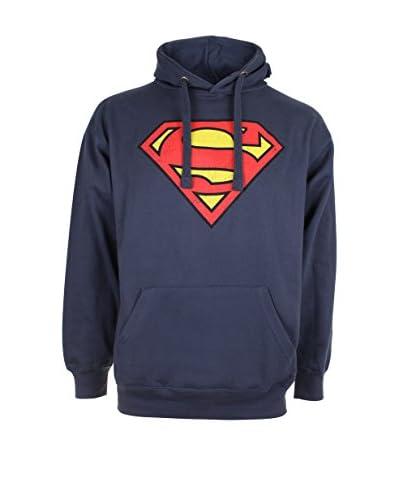 DC COMICS Felpa Cappuccio Superman Distress Logo [Petrolio]