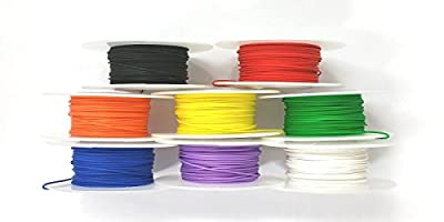 26 Gauge Solid, Kynar Insulated Electronic, Hobby or Crafts Wire, 8 Color Assortment on 100 Ft. Rolls