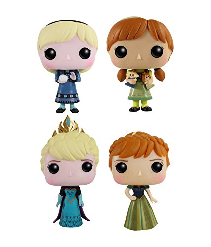 Funko Disney Frozen POP! Vinyl Collectors Set: Young Anna & Elsa, Coronation Anna & Elsa Action Figure
