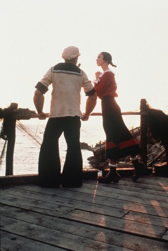robin-williams-and-shelley-duvall-in-popeye-in-silhouette-on-dock
