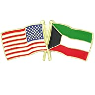 USA and Kuwait Crossed Friendship Fla…