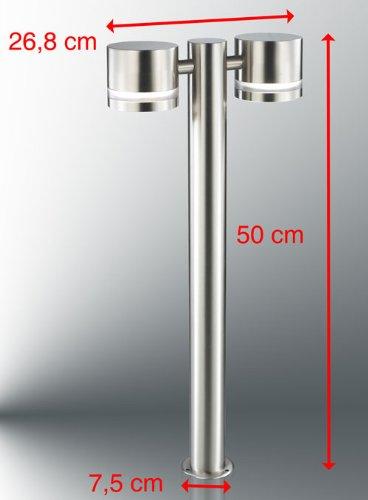 Wegeleuchte, Aussenleuchte, inklusive 2x GX53 Leuchtmittel, Eco Stand 3, Kiom 10135