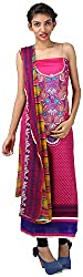 Hardy's Style Women's Pashmina Dress Material (HS-40, Cherry Red)