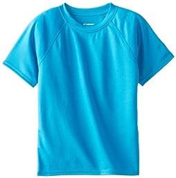Kanu Surf Little Boys\' Solid Swim Shirt, Aqua, 2T