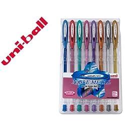 Uni-Ball UM1208CNM - Estuche de 8 bolígrafos tipo roller, 1 unidad