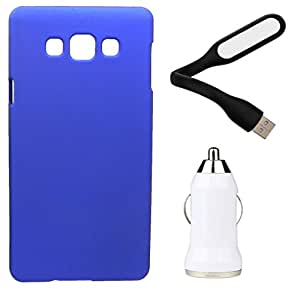 XUWAP Hard Case Cover With Car Charger & USB LED Light Samsung Galaxy Z3 - Blue