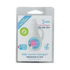 Handwash in Sink - Fragrance - Free Baby Laundry Detergent, .17 fl oz, - 3 Sink Loads