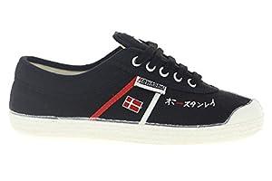 Kawasaki 2360 Edit - Zapatillas de lona / canvas para hombre, color negro / rojo / blanco, talla 43