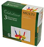 Celebrations Lighting Replacemet Bubble Light Bulbs Multi-color, 3-pack