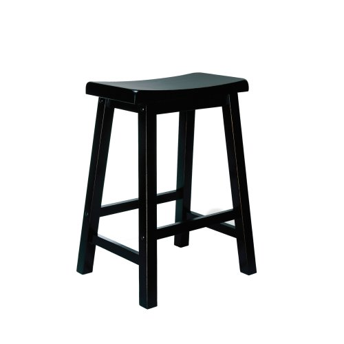 Powell Antique Black With Sand Through Terra Cotta Counter Stool 24 Seat Height Cheap Bar
