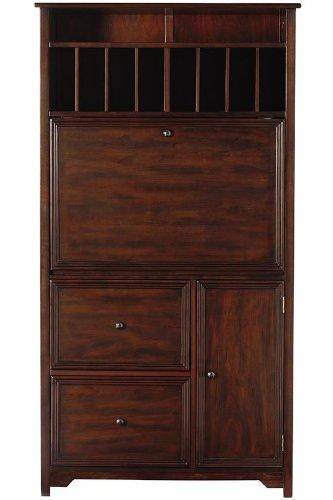 Oxford Tall Secretary Desk, 1 DOOR/2 DRAWER, WHITE