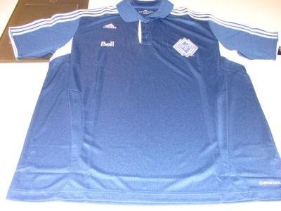 MLS Soccer Vancouver Whitecaps 2011 Clima Cool Dark Blue 3 Button Polo Shirt L - Men's NHL Polos