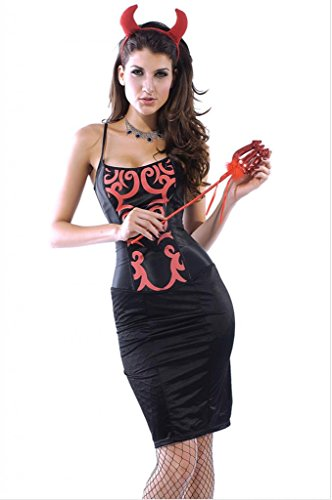Dear-Lover Women's Sexy Devil Costume Halloween Adult Costume