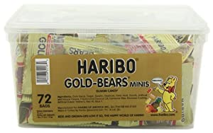 Haribo Gold-Bears Minis, 72-Count