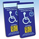 Handicapped Disabled Parking Placard Protective Car Holder (Set of 4)