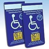 Handicapped Disabled Parking Placard Protective Car Holder (Set of 4)