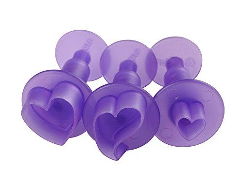 Wilton 1907-1346 Fondant 3-Piece Cutters, Hearts, Mini (Heart Cutters compare prices)