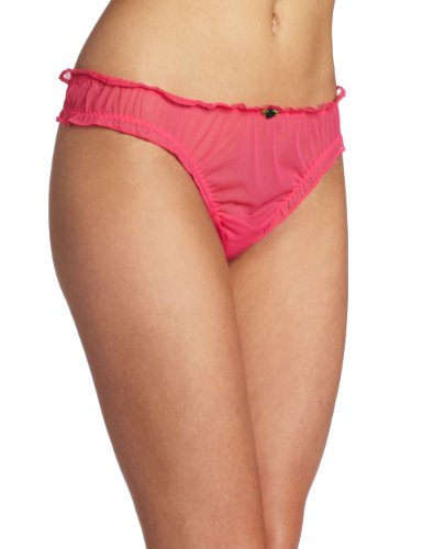 Betsey Johnson Women's Tricot Shirred Thong