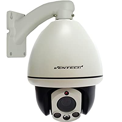 VENTECH CCTV PTZ Security Camera 10X Zoom 3 Array Leds Night Vision RS-485 4inch Pan & Tilt Surveillance