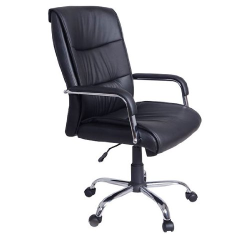 HOMCOM Mid-back Swivel COMPUTER PC EXECUTIVE OFFICE CHAIR, Black
