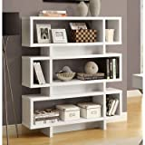 Monarch Specialties Hollow-Core High Modern Bookcase, 55-Inch, White